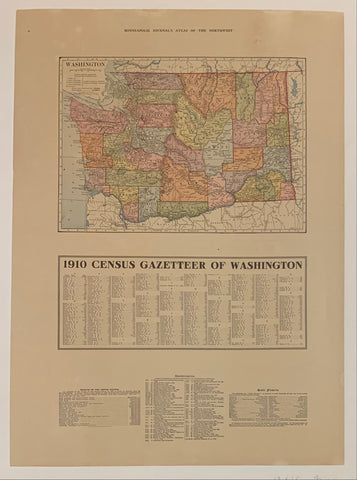 "Minneapolis Journal's Atlas of ""The Northwest"": Washington"
