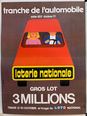 "Loterie Nationale - ""Tranche de L'Automobile"""