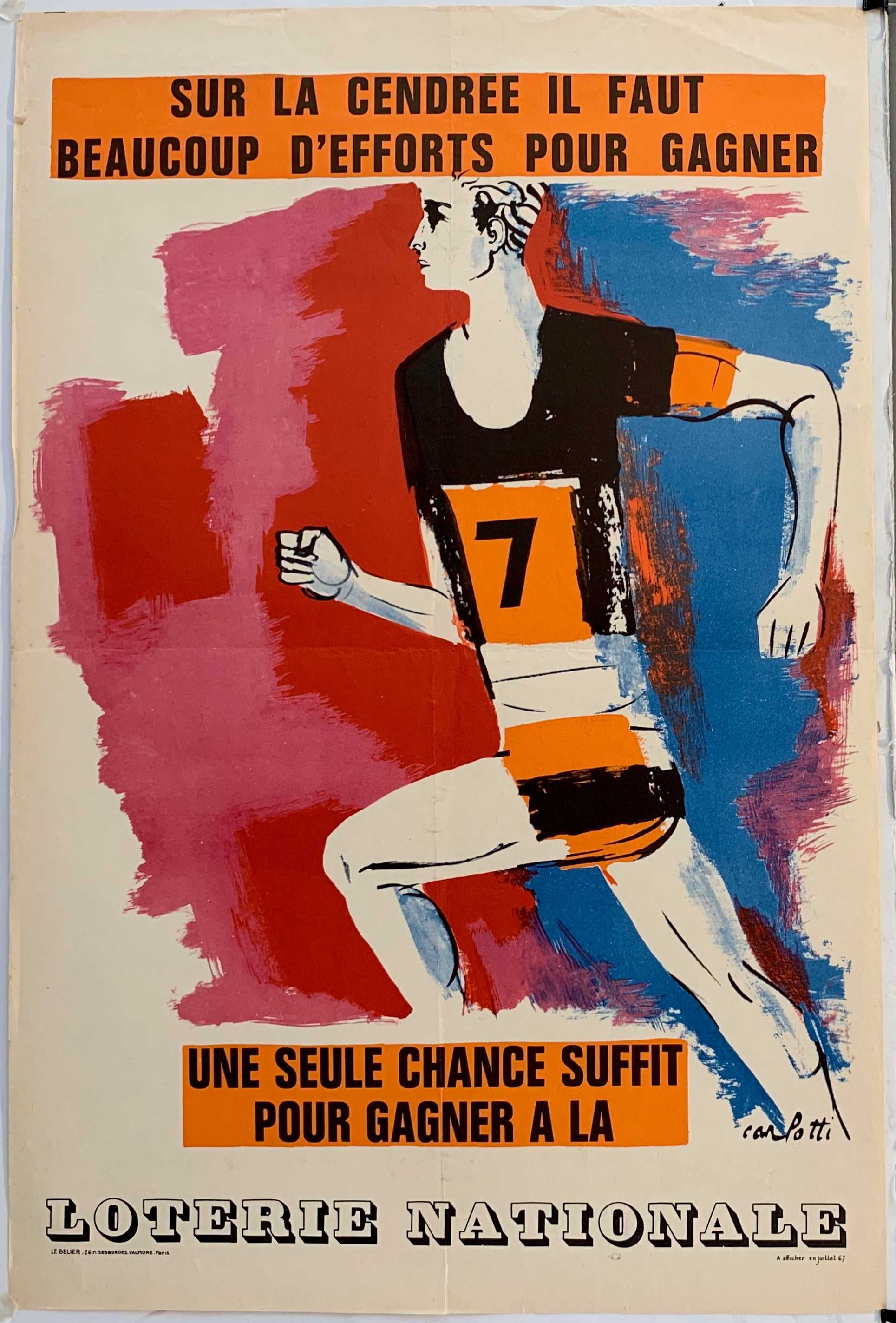 French Lottery Poster - Athlete