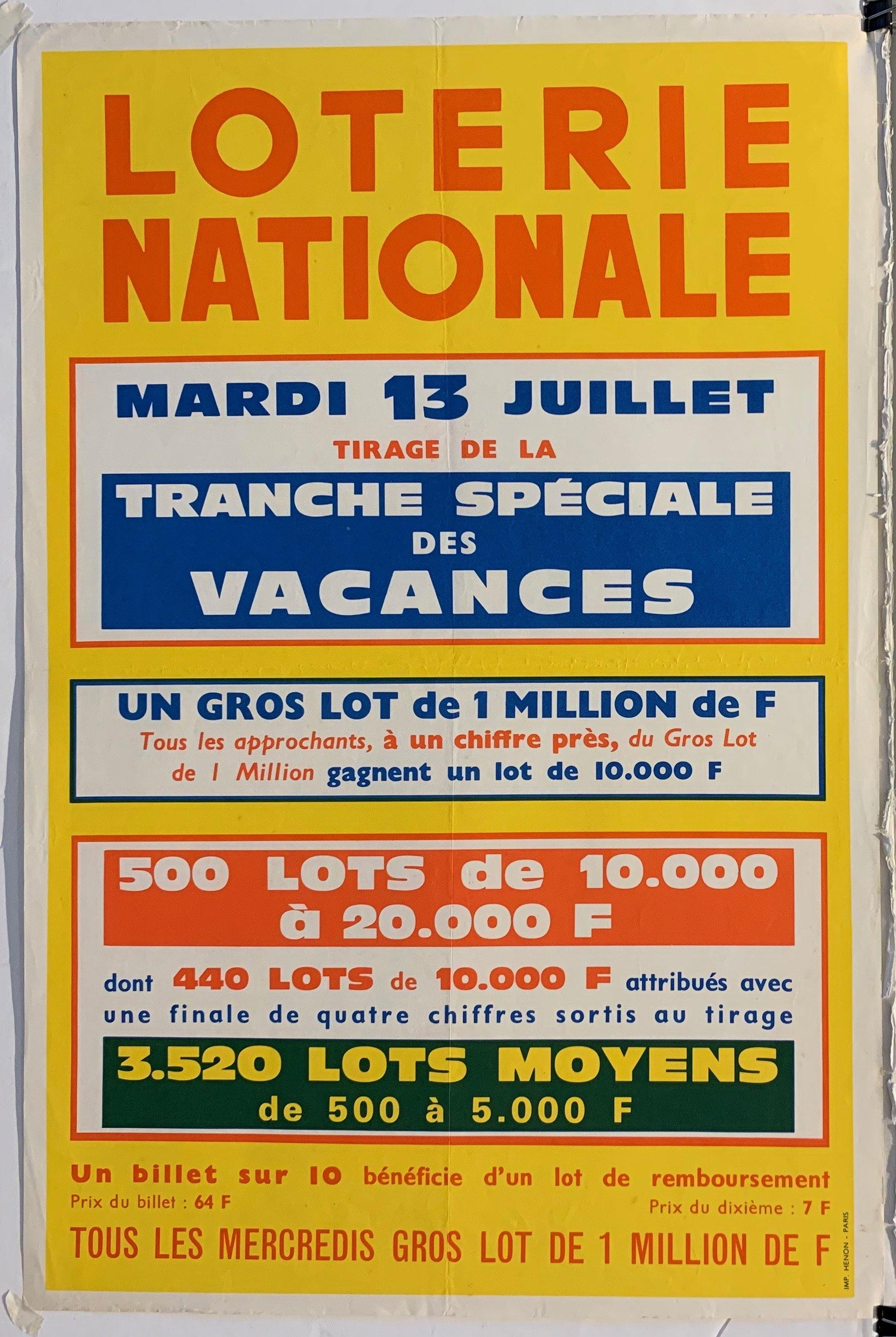 loterie nationale - Poster Museum