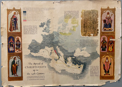 The Spread of Christianity up to the 14th Century Poster