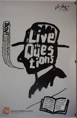 "School of Visual Arts ""Live the Questions"" - Poster Museum"