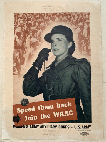 Speed the back Join the WAAC