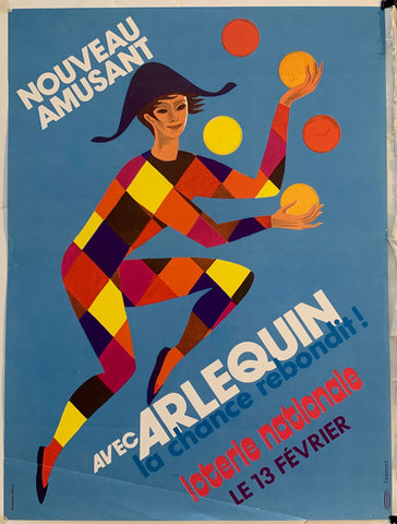 Arlequin Loterie Nationale - Juggling in Blue