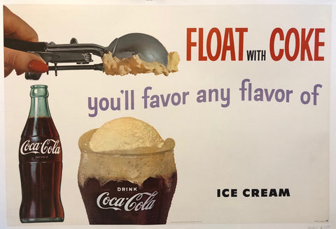 Float With Coke Poster