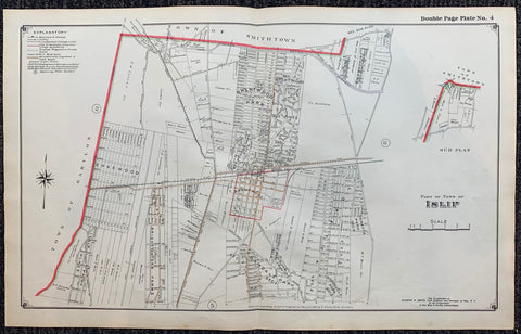 Long Island Index Map No.2 - Plate 4 Islip