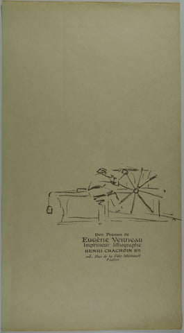 Eugene Verneau Press Lithograph