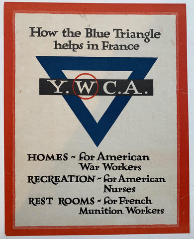 How the Blue Triangle helps in France - Poster Museum