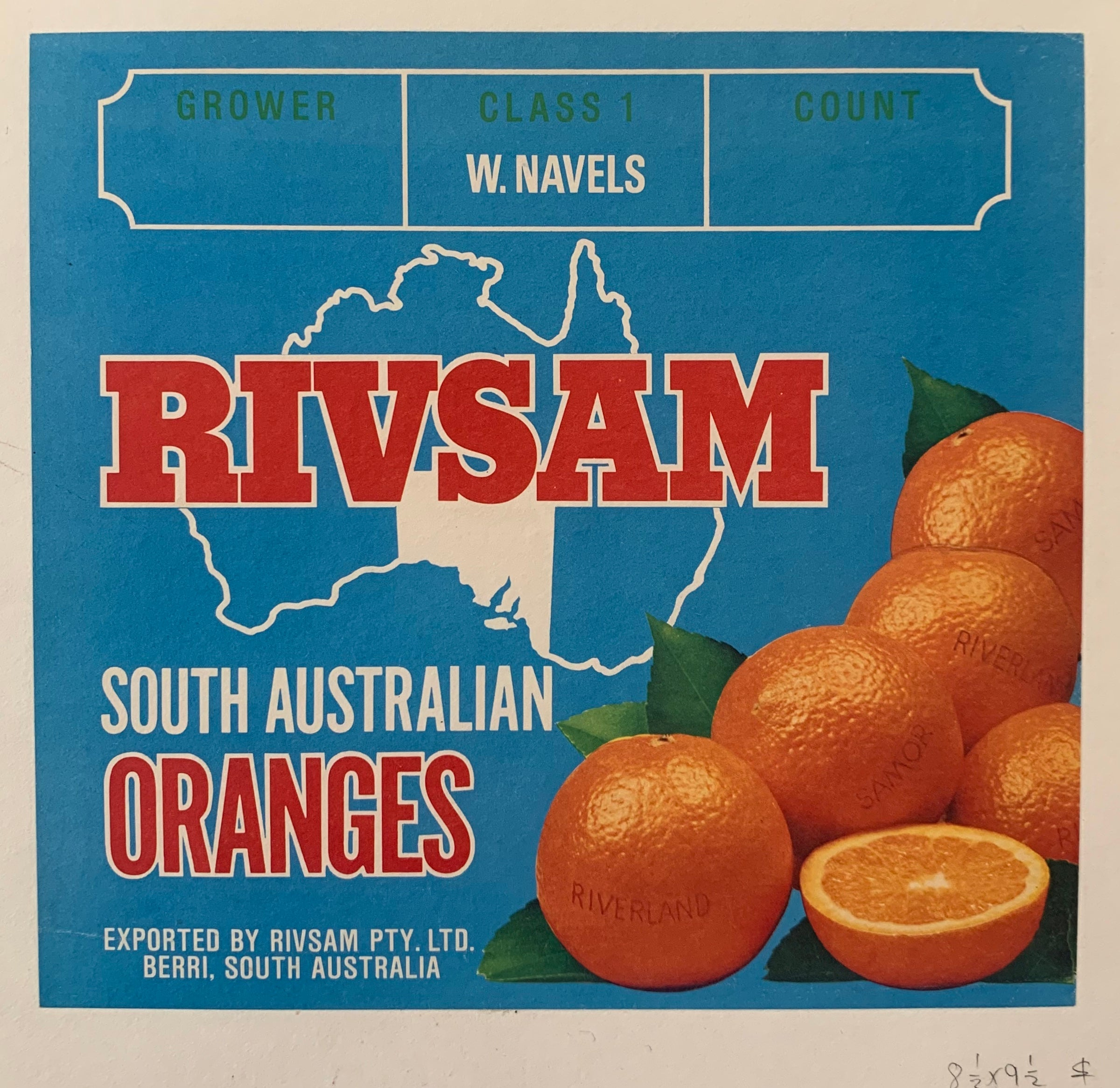 Rivsam South Australian Oranges