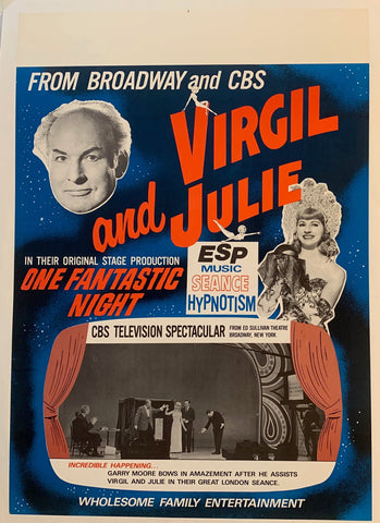 "Virgil and Julie in their original stage production ""One Fantastic Night"""