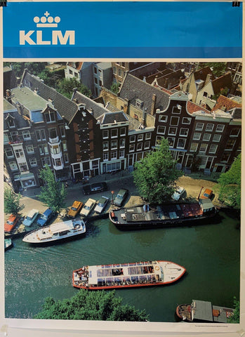 "KLM Airlines Travel ""Dutch River"" - Poster Museum"
