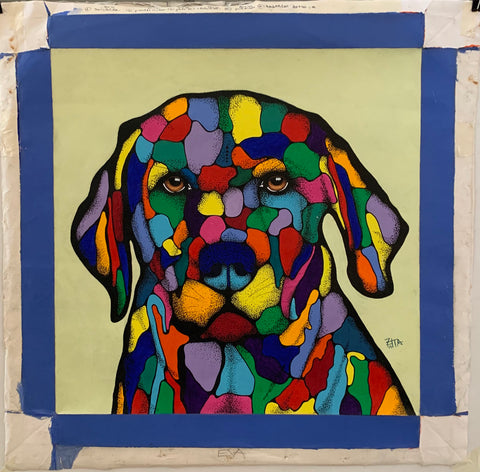 Colorful Dog Painting