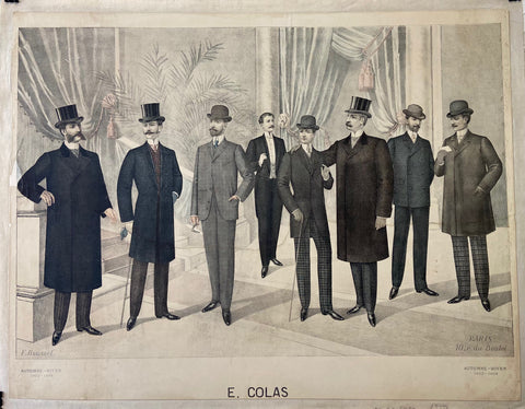 E. Colas Men's Fashion Poster