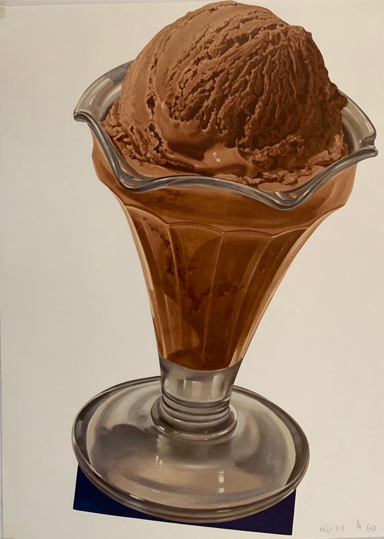 Chocolate  Ice Cream in Glass