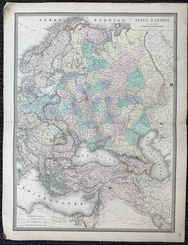 Russie D'Europe Map