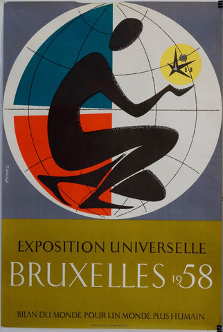 Exposition Universelle Bruxelles 1958 - Poster Museum