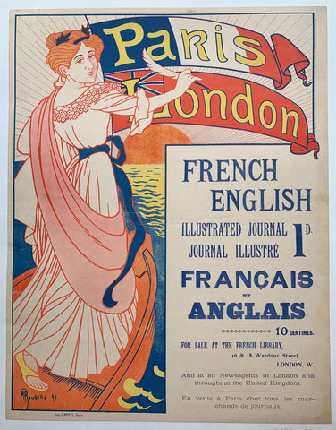 French English Illustrated Journal - Poster Museum