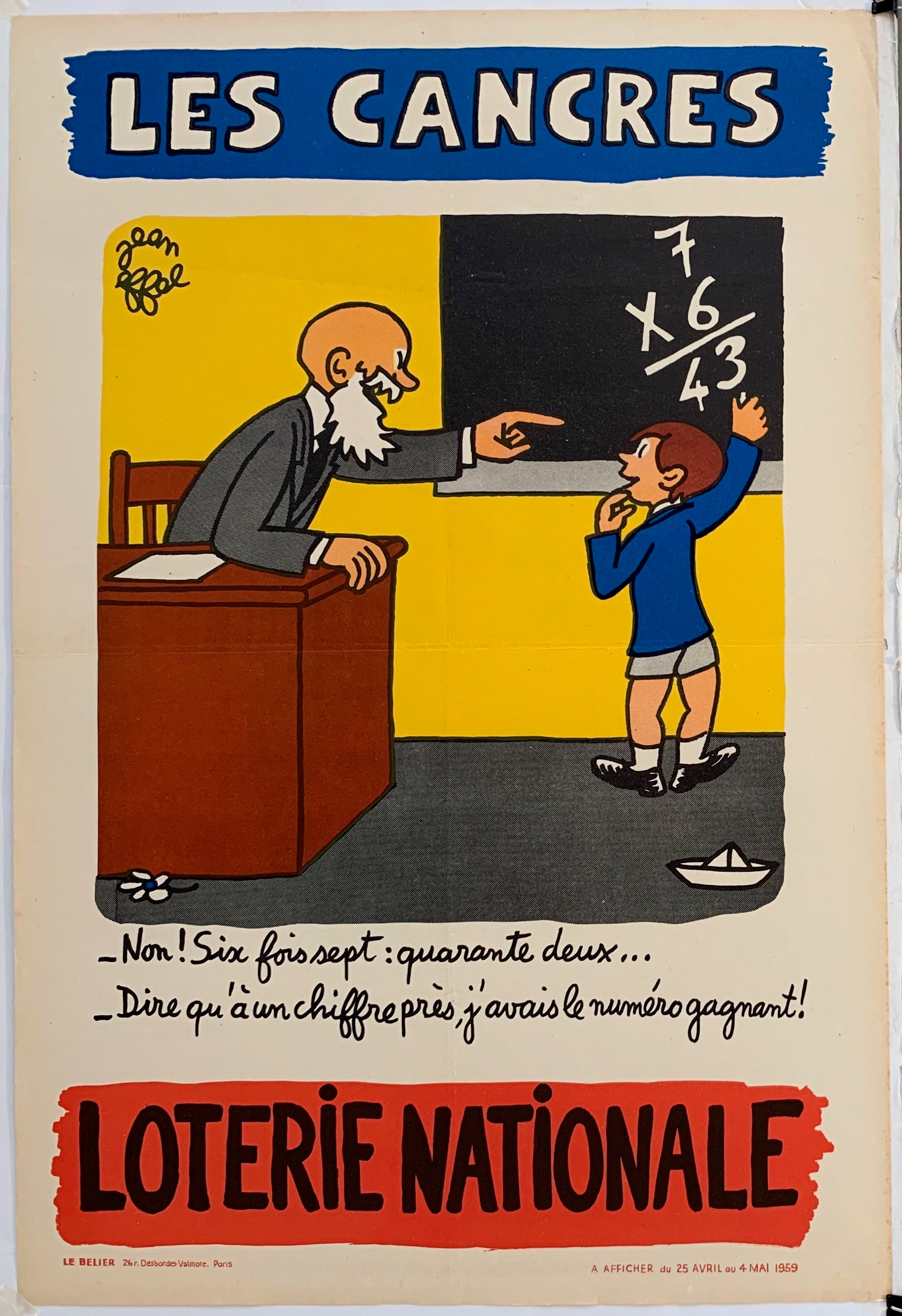 French Lottery Poster - Math Teacher