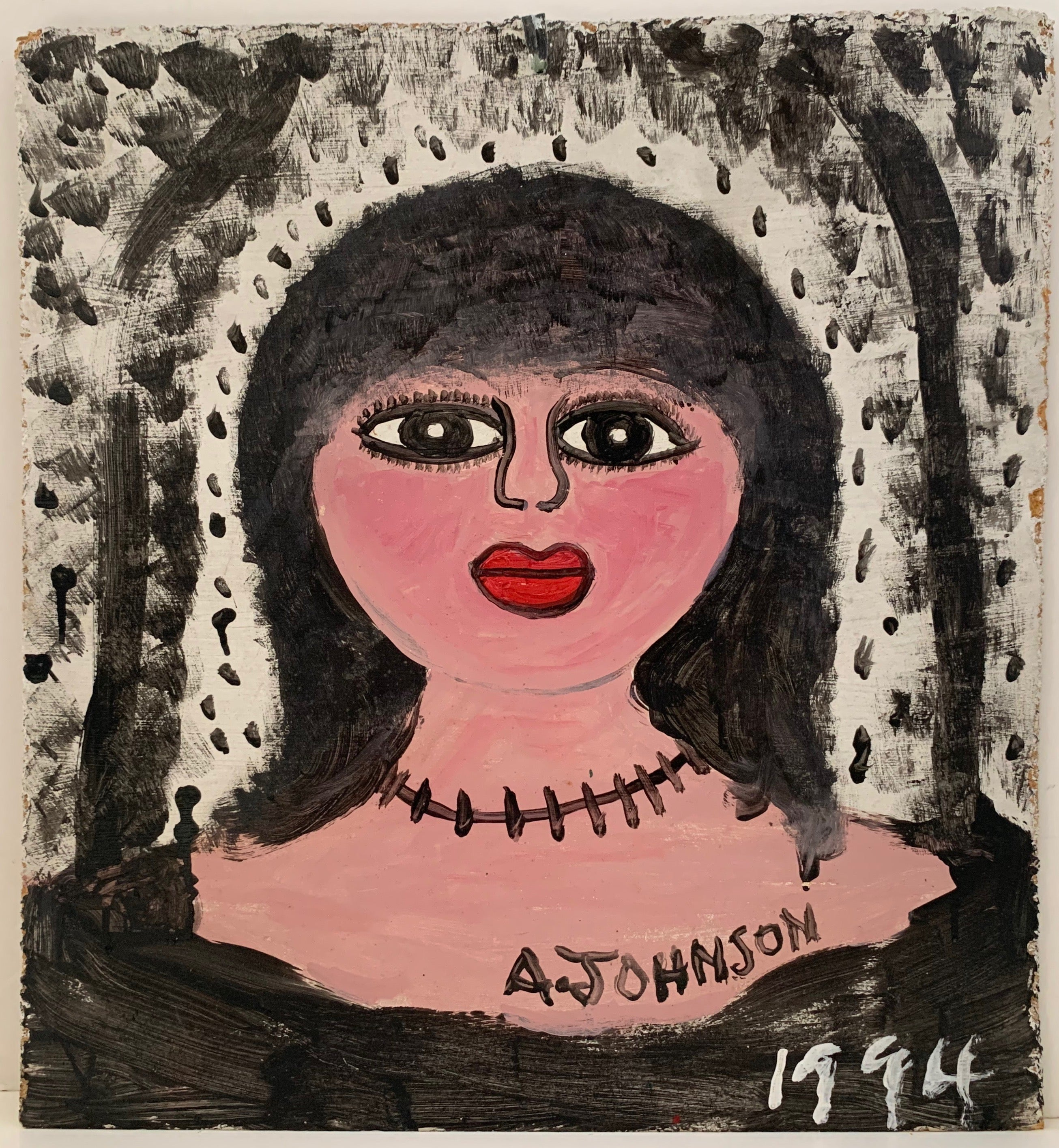 Woman With Necklace Anderson Johnson Painting