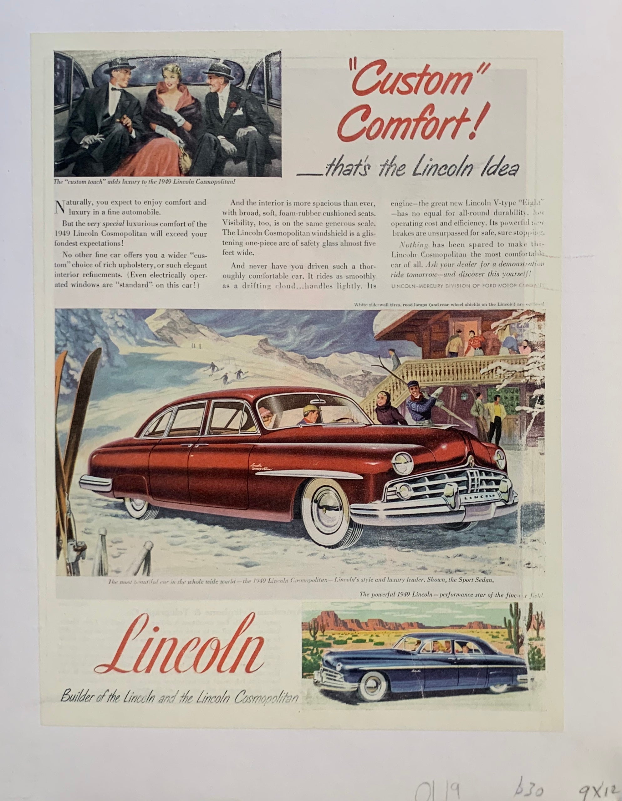 The '49 Lincoln Cosmopolitan Custom Comfort Ski Lodge