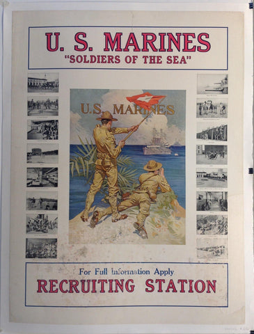 "U.S. Marines ""Soldiers of the Sea"" For Full Infomation Apply Recruiting Station"
