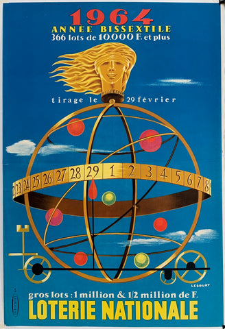 French Lottery Poster - Golden Globe