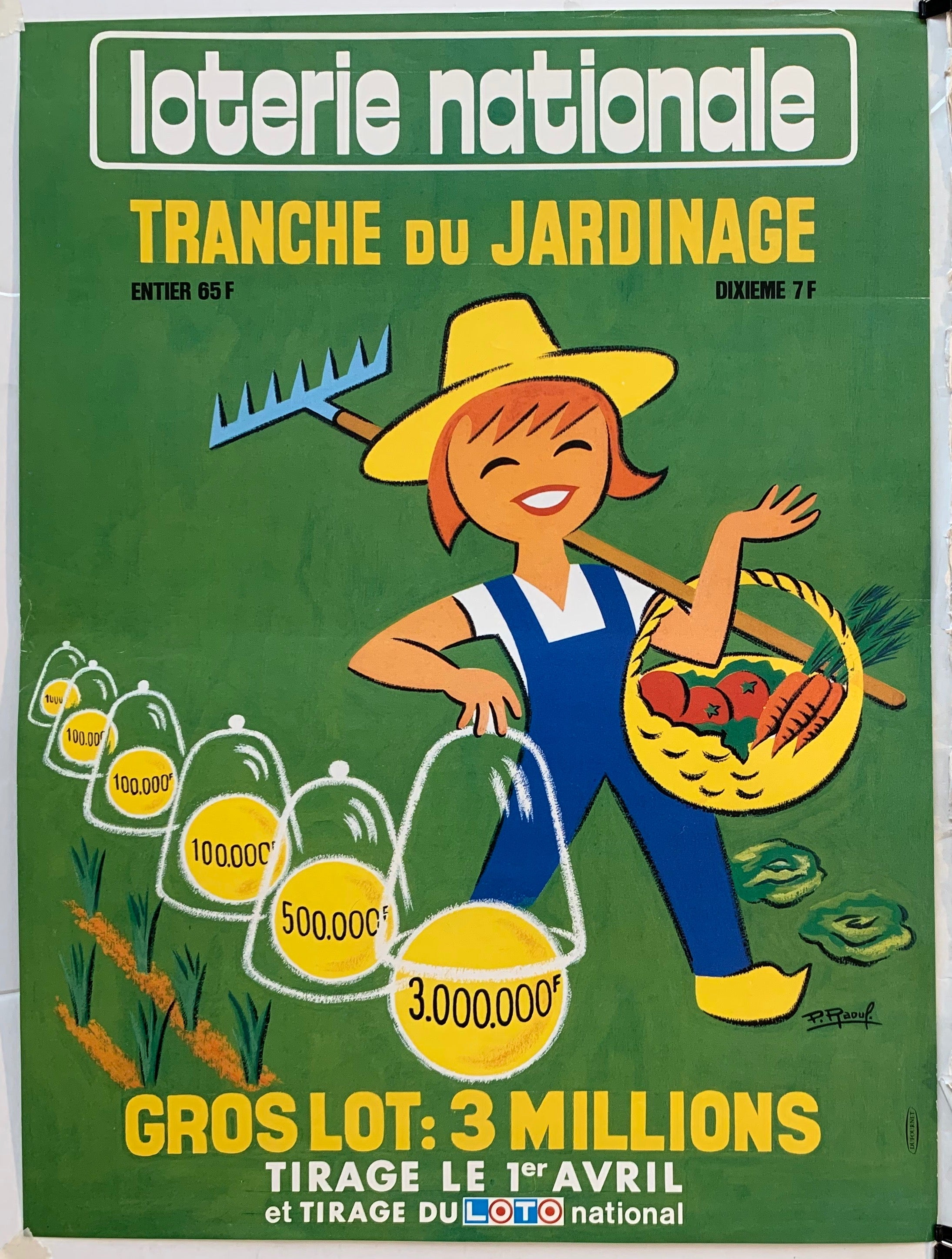 "Loterie Nationale - ""Tranche du Jardinage"""