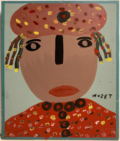 Polka Dotted Person Mose Tolliver Painting