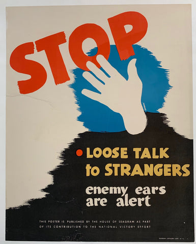 Stop Loose Talk to Strangers - Enemy Ears are Alert