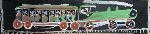 Green Train #24, Jimmie Lee Sudduth Painting