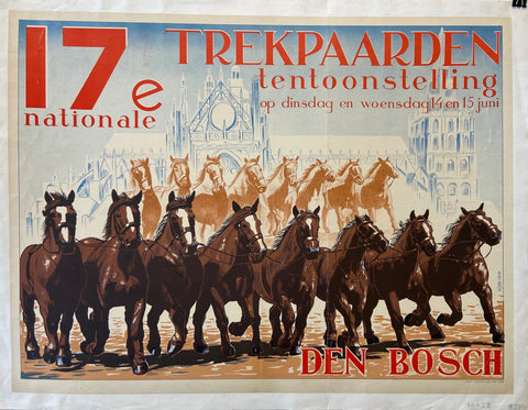 Poster of brown horses