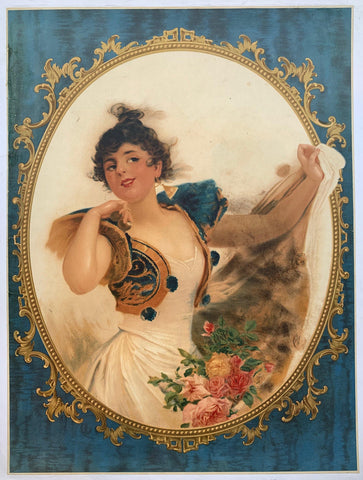 Portrait of woman with flowers - Poster Museum