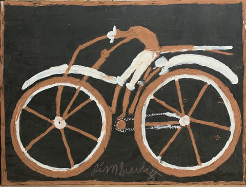 The Cyclist #32, Jimmie Lee Sudduth Painting