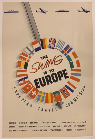 The Swing is to Europe Poster