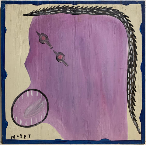 Purple and Grey Self Portrait Mose Tolliver Painting