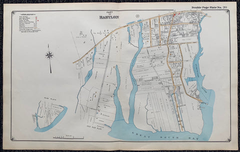 Long Island Index Map No.2 - Plate 20 Babylon