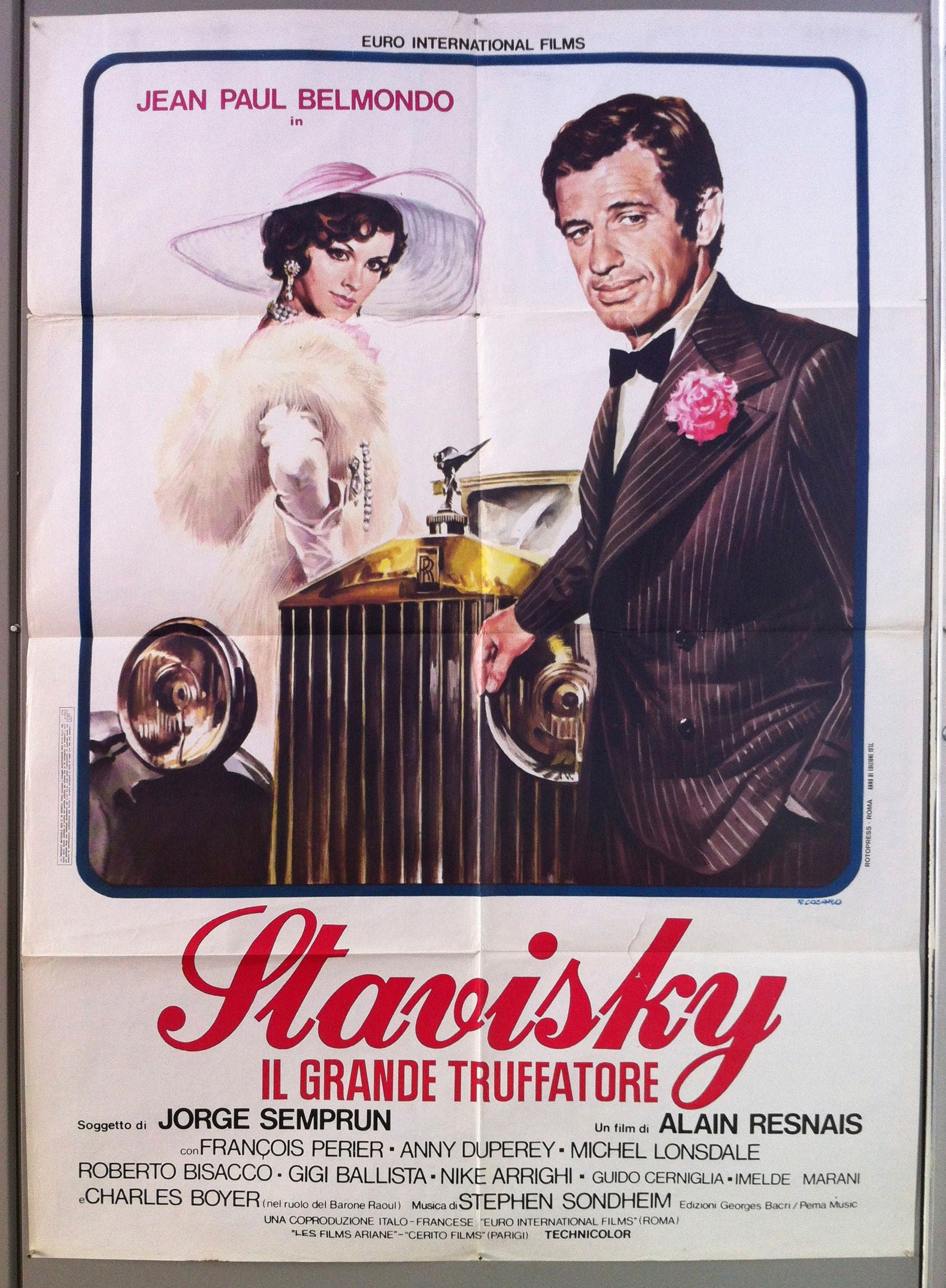 Stavisky Jean-Paul Belmondo Charles Boyer movie poster