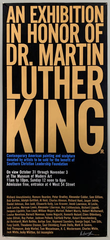 Poster for a MoMa exhibit in honor of Martin Luther King Jr.