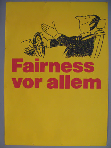 Fairness vor allem Swiss Poster