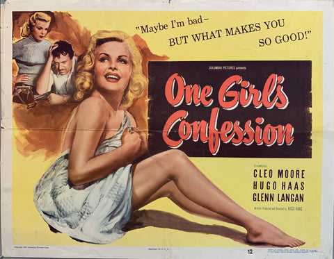 One Girl's Confession Film Poster