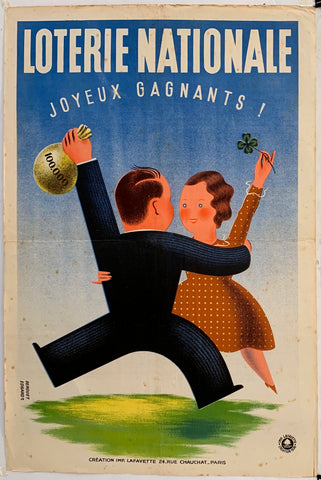 French Lottery Poster - Dancing