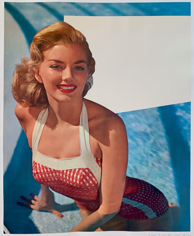 Woman in Pool Poster