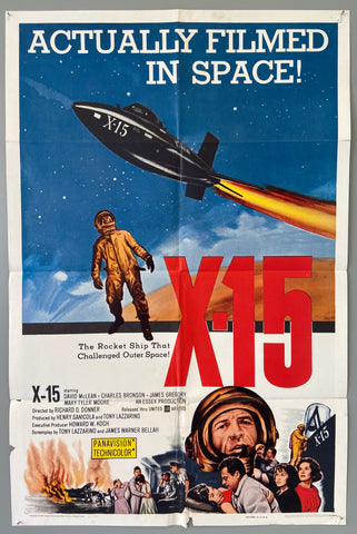 Actually Filmed in Space .. X-15