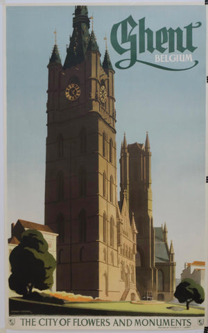 "Ghent Belgium ""The City of Flowers and Monuments"" - Poster Museum"