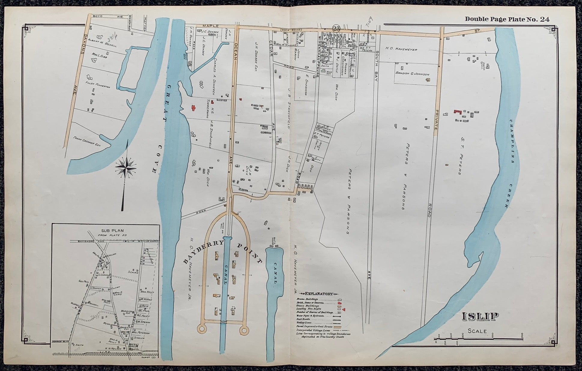 Long Island Index Map No.2 - Plate 24 Islip