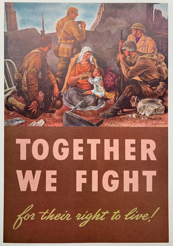 Together We Fight. For their right to live! - Poster Museum