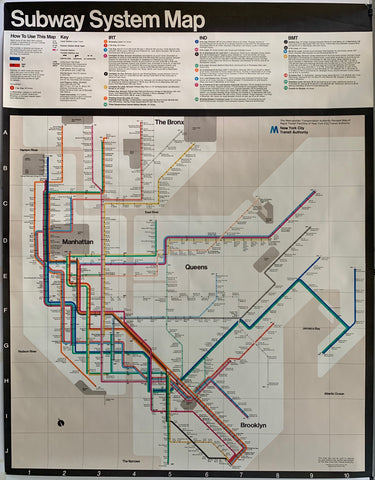 New York City Subway System Map 1972