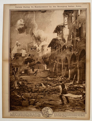 Gorizia During Its Bombardment by the Besieging Italian Army
