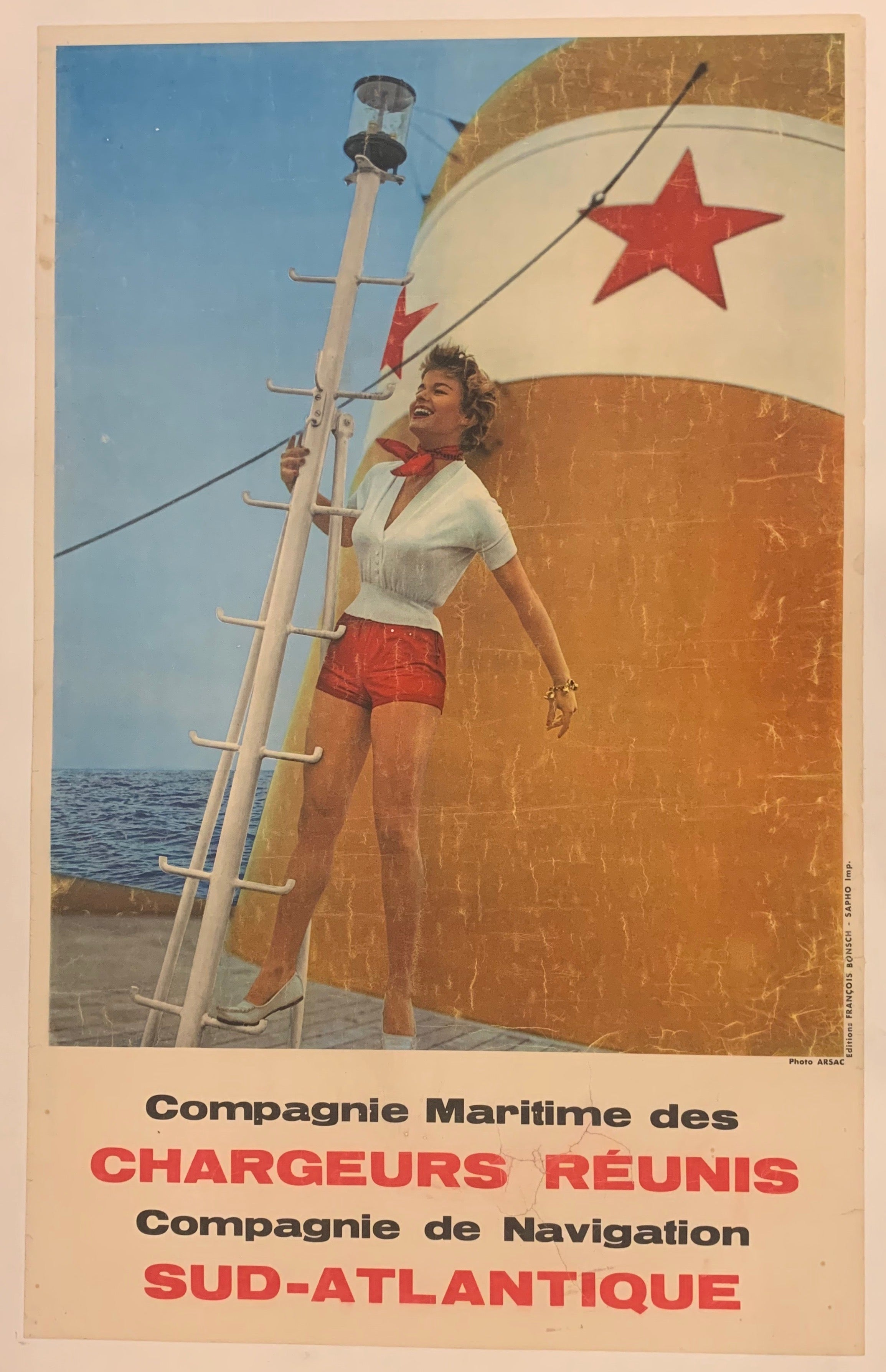 Compagnie Maritime Travel Poster
