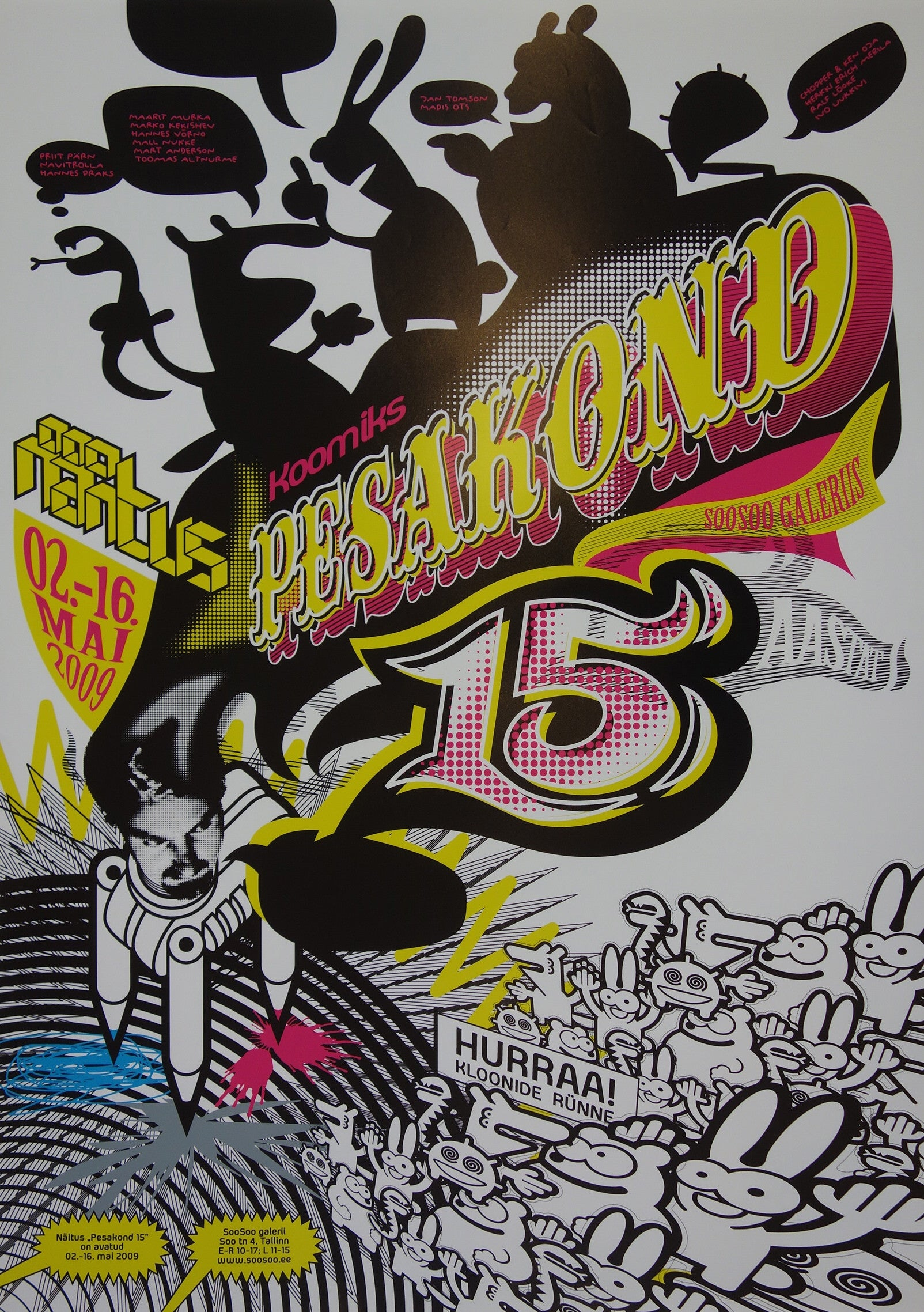 Pekakond 15 year old comic anniversary exhibition